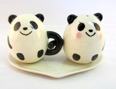 Kawaii Panda Salt and Pepper Shaker Set by ChooKawaii on Etsy