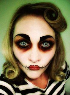 Mesdames, Halloween arrive et vous n'avez toujours pas d'idées pour vous maquiller ?  Voici 60 photos à l'aide desquelles, nous l'espérons, vous trouverez de bonnes idées !  (Excusez la qualité de certaines...