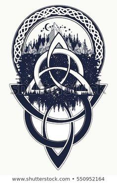 Mountain forest symbol travel symmetry tourism t-shirt - Knot T Shirt - Ideas of Knot T Shirt - unique Geometric Tattoo Celtic knot tattoo. Mountain forest symbol travel symmetry tourism t-shirt Body Art Tattoos, New Tattoos, Tattoos For Guys, Sleeve Tattoos, Cool Tattoos, Tatoos, Portrait Tattoos, Face Tattoos, Pretty Tattoos