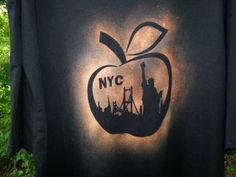 NYC Big Apple Bleach.Print TShirt Short Sleeve Size by MindHarvest, $20.00