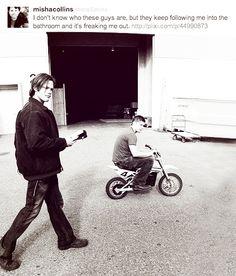Funny Misha Collins Tweet / Jensen Ackles / Jared Padalecki / Supernatural