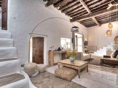5 bedroom villa in San Lorenzo (Sant Llorenc), Sant Joan de Labritja (San Juan) . Style At Home, Mediterranean Homes, Mediterranean Architecture, Tuscan Homes, Interior Decorating, Interior Design, Decorating Blogs, Living Room Remodel, Interior And Exterior