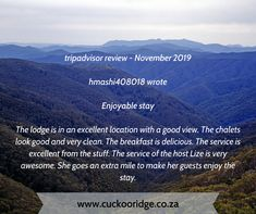 Its time to take a break at Cuckoo Ridge😎 Book your ideal self-catering stay with us online www.cuckooridge.co.za Or contact Lize on 072 430 1934, Email us on lize@cuckooridge.co.za #hazyview #cuckooridge #selfcatering #breakawayfortheweekend #familytime Tripadvisor Reviews, Take A Break, Nice View, Trip Advisor, Catering, This Is Us, Self, Book, Travel
