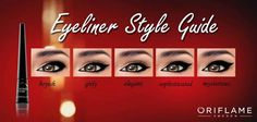 More eye liner tips, this time using the Wonder Colour eye liner, courtesy of Oriflame.