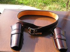 Mernickles Western Cowboy Action Gunbelt Blackhawk Holsters Hand Tooled Carved | eBay