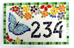 Mosaic Garden Art, Mosaic Art, Torn Paper, Mosaic Projects, Weird Art, House Numbers, Paper Art, Artsy, Butterfly