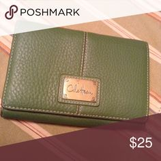Wallet Olive green wallet with tan and olive green inside Cole Haan Bags Wallets