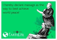 Let's see if we can achieve world peace! Book your massage appointment today! Saffron Day Spa Las Vegas 702-367-3529 www.saffronlasvegas.com