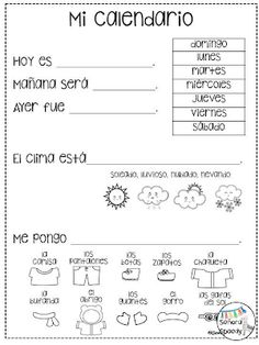 Calendar Time in the Elementary Spanish Classroom Part Two