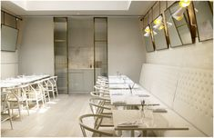 Mesmerizing Restaurant and Bars with Stunning Design to Attract the Customer : Marvellous Restaurant Design With White Ideas And Yellow Wall...