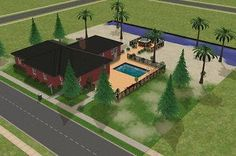 Mod The Sims - Casa Caliente from Sims Bustin' Out