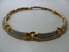Vintage Necklace / Collar / Choker Gold Tone & by KathiJanes, $26.95