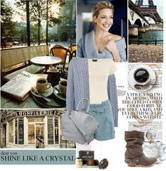 """""""Coffee in Paris"""" by lgmrkm ❤ liked on Polyvore"""