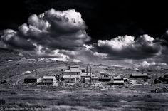 Bunker Hill Mine, Clouds, BW