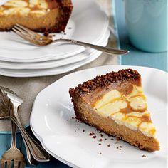 Pumpkin Swirl Pie with Gingersnap Crust Recipe   MyRecipes.com