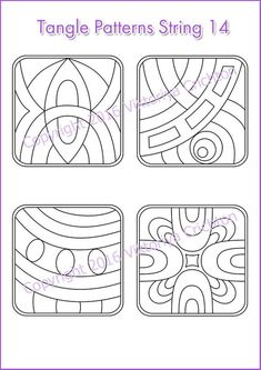 Zentangles Strings for drawing patterns Tangle pattern printable string, PDF. Zentangle Drawings, Doodle Drawings, Cartoon Drawings, Easy Drawings, Zentangles, Doodle Designs, Doodle Patterns, Zentangle Patterns, Designs To Draw