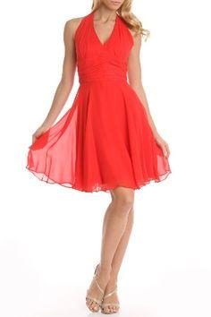 Red Halter Dress.