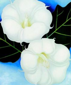 Okeeffe georgia fine arts before 1945 the red list georgia o moon flowers vii georgia o keefe flower paintings mightylinksfo