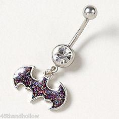 14g Belly Piercings Batman Batgirl Glitter Belly Button Rings Jewelry Navel | eBay. geeky belly button ring