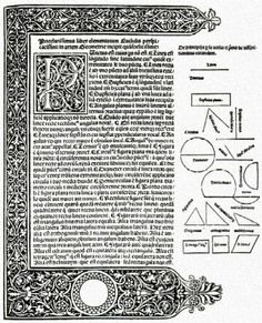 Page from Euclid's Elementa Geometriae (1482)