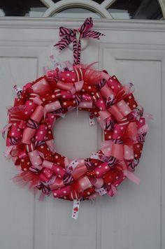 Valentine's ribbon wreath