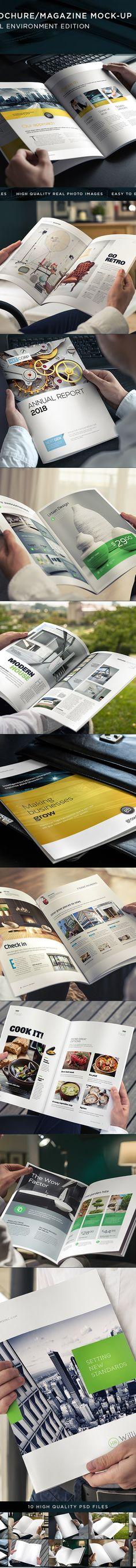 Brochure / Magazine Mock-Up on Behance