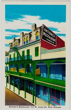 New Orleans - Antoine's Restaurant [the oldest (7 generation) family owned restaurant in America]
