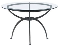 wrought iron console table with glass top - Google Search