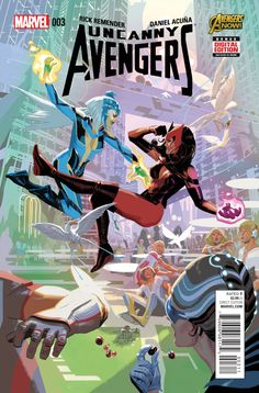 Browse the Marvel Comics issue Uncanny Avengers Learn where to read it, and check out the comic's cover art, variants, writers, & more! Avengers 2015, Uncanny Avengers, Marvel Avengers, Scarlet Witch Marvel, Comic Book Covers, Comic Books Art, Book Art, Teen Titans, Cover Art