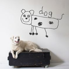 Dog wall sticker. $40.00, via Etsy.