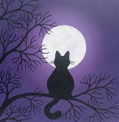 Easy Canvas Art Cat - Bing images