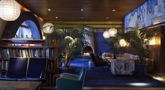 The Maritime Hotel, NYC.  Small rooms but the lobby and both indoor and outdoor bar spaces are my favorites ever.