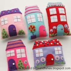 How To: Sew Cute Felt Houses (Bugs and Fishes by Lupin)