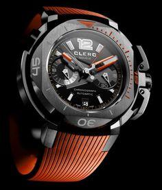Clerc Clockwork Orange (Hydroscaph Dive Watch)