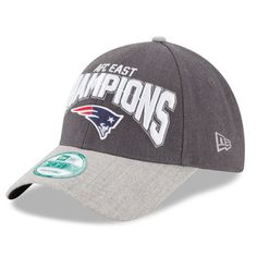 fe0bbb5eb0d Men s New England Patriots New Era Graphite 2015 AFC East Division Champions  9FORTY Adjustable Hat