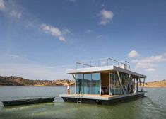 Photo 1 of 7 in 6 Modular Houseboat and Floating Home Manufacturers Around the World. Browse inspirational photos of modern homes. From midcentury modern to prefab housing and renovations, these stylish spaces suit every taste. A As Architecture, Floating Architecture, Latest House Designs, Hotel Restaurant, Floating House, Prefab Homes, House Tours, Beautiful Homes, Sustainable Architecture