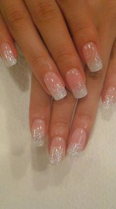 Ombre' style butterly LED polish design on her natural nails and ...