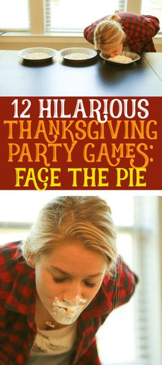 These 12 Thanksgiving games are not only funny theyre perfect for any age for kids for teens for adults for family and even for toddlers Played in minute to win it style. Thanksgiving Games For Adults, Family Thanksgiving, Thanksgiving Parties, Thanksgiving Activities, Thanksgiving Crafts, Outdoor Thanksgiving, Thanksgiving Traditions, Holiday Parties, Family Party Games
