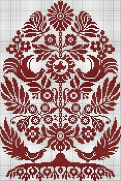 Cross stitch Pattern Ukrainian Embroidery Wedding Towel Rusnyk Napkin Pillow 4 r Embroidery Sampler, Folk Embroidery, Cross Stitch Embroidery, Embroidery Patterns, Cross Stitch Tree, Cross Stitch Charts, Cross Stitch Designs, Cross Stitch Patterns, Embroidery Techniques