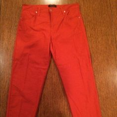 KAREN kANE RUSTIC ORANGE JEAN PANTS KAREN KANE PANTS Are by far the most comfortable they have plenty of stretch are very soft !!! Tag only says name & Made In USA  What does that tell you ???all I can say is I love them they don't fit me anymore Have never had slacks with this material feel so soft & the stretch is incredible Thank you For Visiting My Closet  Karen Kane Pants