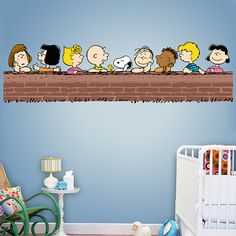 Peanuts Gang REAL.BIG. Fathead – Peel & Stick Wall Graphic | Peanuts Wall Decal | Kids Decor | Bedroom/Playroom/Nursery