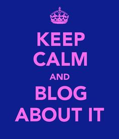 LOVE BLOGGING! <3 and there is always time for it... ;)