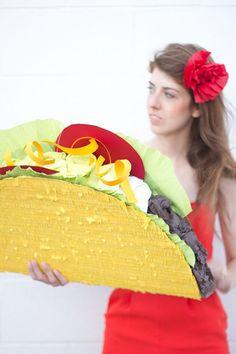love this so much! :: DIY Taco Piñata