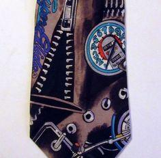 Nicole Miller official Harley-Davidson tie necktie  Gears SupraGlide Am Legend #NicoleMiller #NeckTie