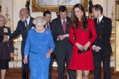 Kate Middleton stars as Queen's right-hand woman as royal pair welcome stage and screen actors to Buckingham Palace
