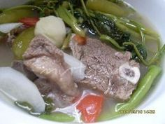 One of our most famous dishes is called Sinigang. Sinigang can be made with different types of meats including pork and salmon. Filipino Dishes, Filipino Recipes, Asian Recipes, Sinagang Recipe, Pinoy Recipe, Menu Recipe, Pork Sinigang, Pork Recipes, Cooking Recipes