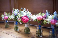 Bride and Bridemaid bouquets. I loved the colourful flowers! :)