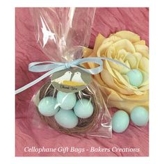 9x 3 clear cellophane gift bags easter eggs food sweet cellophane gift bags makes lovely low budget gifts they can be customised for each negle Gallery