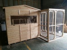 This is a large 7x5ft rabbit shed with a 8x5ft walk in run.