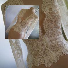 Wedding bolero-jacket with lace long sleeveshort sleeve by TIFARY